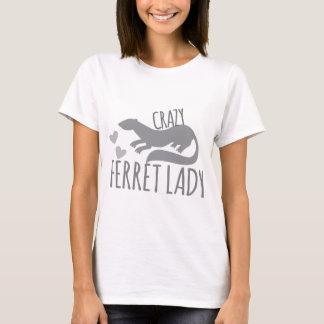verrückte Frettchendame T-Shirt