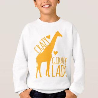 verrückte Giraffendame Sweatshirt