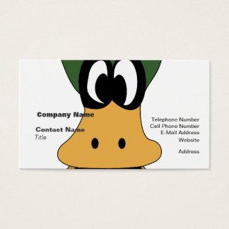 Verrückte grüne Cartoon-Enten-unterschiedliche Visitenkarte