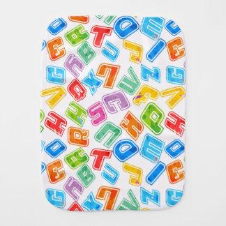 Verrückte helle Spaß-Buchstaben Spucktuch