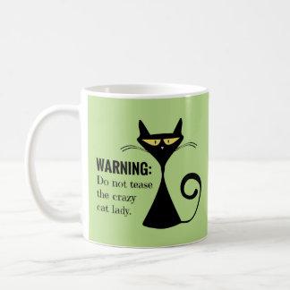 Verrückte Katzen-Dame Kaffeetasse