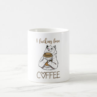 Verrückte Koffein-Katze Kaffeetasse