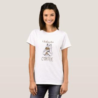 Verrückte Koffein-Katze T-Shirt