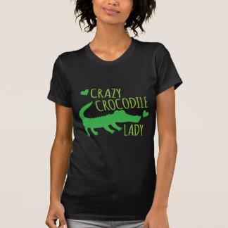 Verrückte Krokodil-Dame T-Shirt