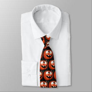 Verrückte Kürbis-Halloween-Krawatte Krawatten