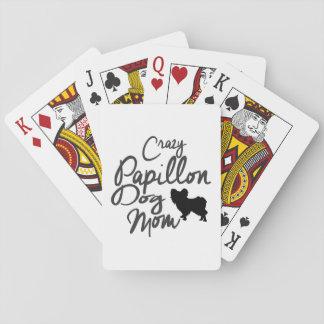 Verrückte Papillon Hundemamma Spielkarten