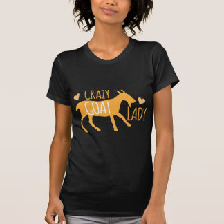 Verrückte Ziegen-Dame T-Shirt