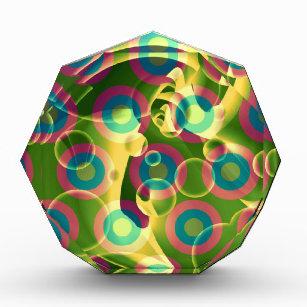 Verrückter cooler psychedelischer Regenbogen Auszeichnung