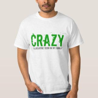 Verrückter Familien-Ausdruck-Text-Entwurfs-T - T-Shirt