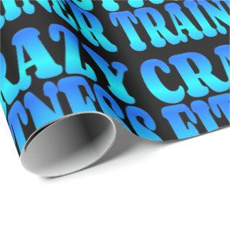 Verrückter Fitness-Trainer Geschenkpapierrolle