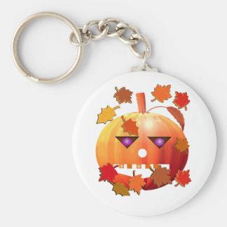 Verrückter Halloween-Kürbis Standard Runder Schlüsselanhänger