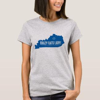 Verrückter Katzen-Damen-T - Shirt