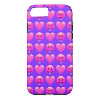 Verrückter Liebe Emoji iPhone 7 Telefon-Kasten iPhone 7 Hülle