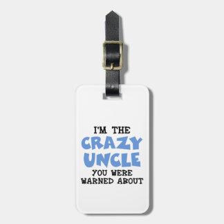Verrückter Onkel Gepäckanhänger