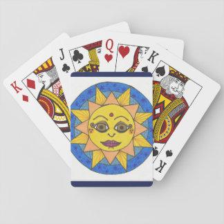Verrückter Paisley ausgedehnter Leinwand-Druck Spielkarten