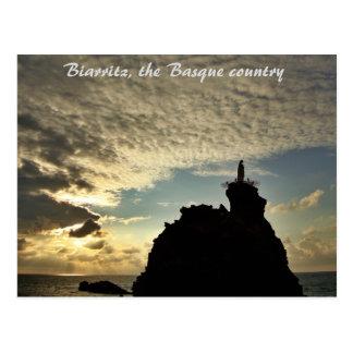 """""""Verrückter Sonnenuntergang"""" - Biarritz Postkarte"""