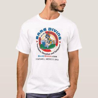 Verrückter Taucher - doppelter Cozumel 2013 T-Shirt