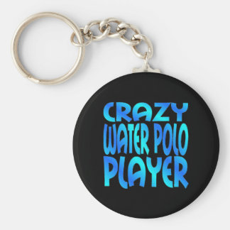 Verrückter Wasserball-Spieler Schlüsselanhänger