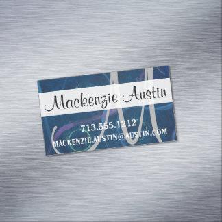Verrücktes blaues visitenkartenmagnet