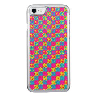 Verrücktes gelbes und rosa Muster Carved iPhone 8/7 Hülle