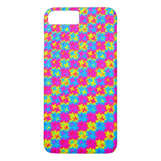 Verrücktes gelbes und rosa Muster iPhone 8 Plus/7 Plus Hülle