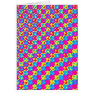 Verrücktes gelbes und rosa Muster Karte