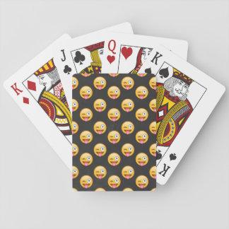Verrücktes Gesicht Emoji Spielkarten