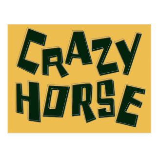 verrücktes Pferd Postkarte