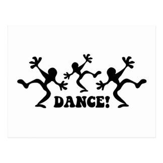 Verrücktes Tänzer-Tanzen Postkarte