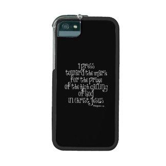 Vers de bible des Philippiens 3,14 Coque iPhone 5
