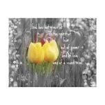 Vers et tulipes de bible toile tendue sur châssis