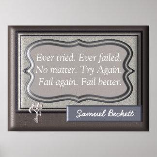Versagen Sie besser - Samuel- Beckettzitat - Poster