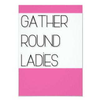 Versammlung ringsum Damen 8,9 X 12,7 Cm Einladungskarte