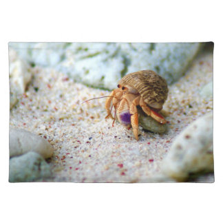 Versanden Sie Krabbe, Curaçao, karibische Inseln, Stofftischset