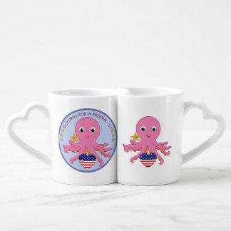 Verschachtelungs-Kaffee-Tassen-Set-Krake für einen Liebestassen