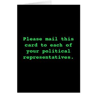 Verschicken Sie diese Karte zu Ihrem politischen r