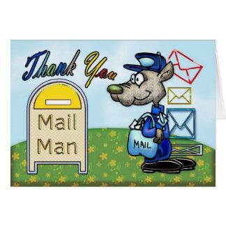 Verschicken Sie Mann, Postanerkennung danken Ihnen Karte