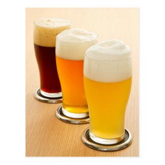 Verschiedene Arten des Bieres Postkarten