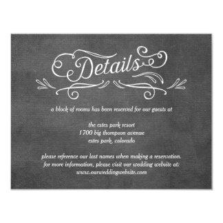 Verschwenderische Rolle-Editable 10,8 X 14 Cm Einladungskarte