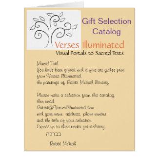 Verse belichteten Geschenk-Auswahl-Katalog Karte