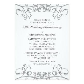 Versilbern Sie 25. Hochzeitstag Karte
