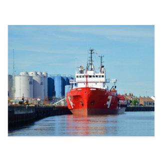 Versorgungs-Schiff weites Grimshader Postkarte