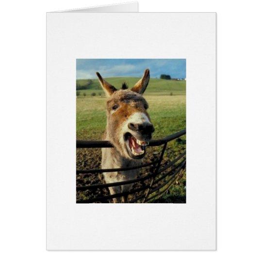 Verspätete Geburtstags-Esel-Karte Grußkarte