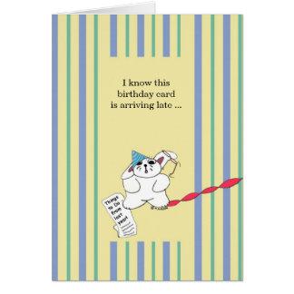 Verspäteter Geburtstag Karte