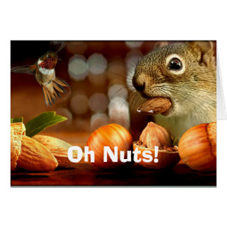 Verspätetes Geburtstags-Eichhörnchen Mitteilungskarte