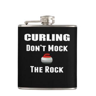 Verspotten Sie nicht die Felsen-kräuselnflasche Flachmann
