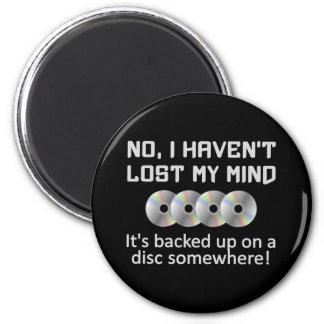 Verstand auf einem Discmagneten Runder Magnet 5,7 Cm