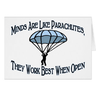 Verstand ist wie Fallschirme Karte