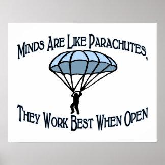 Verstand ist wie Fallschirme Poster