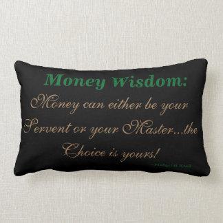 Verstand über Geld-Akzent-Wurfs-Kissen Lendenkissen